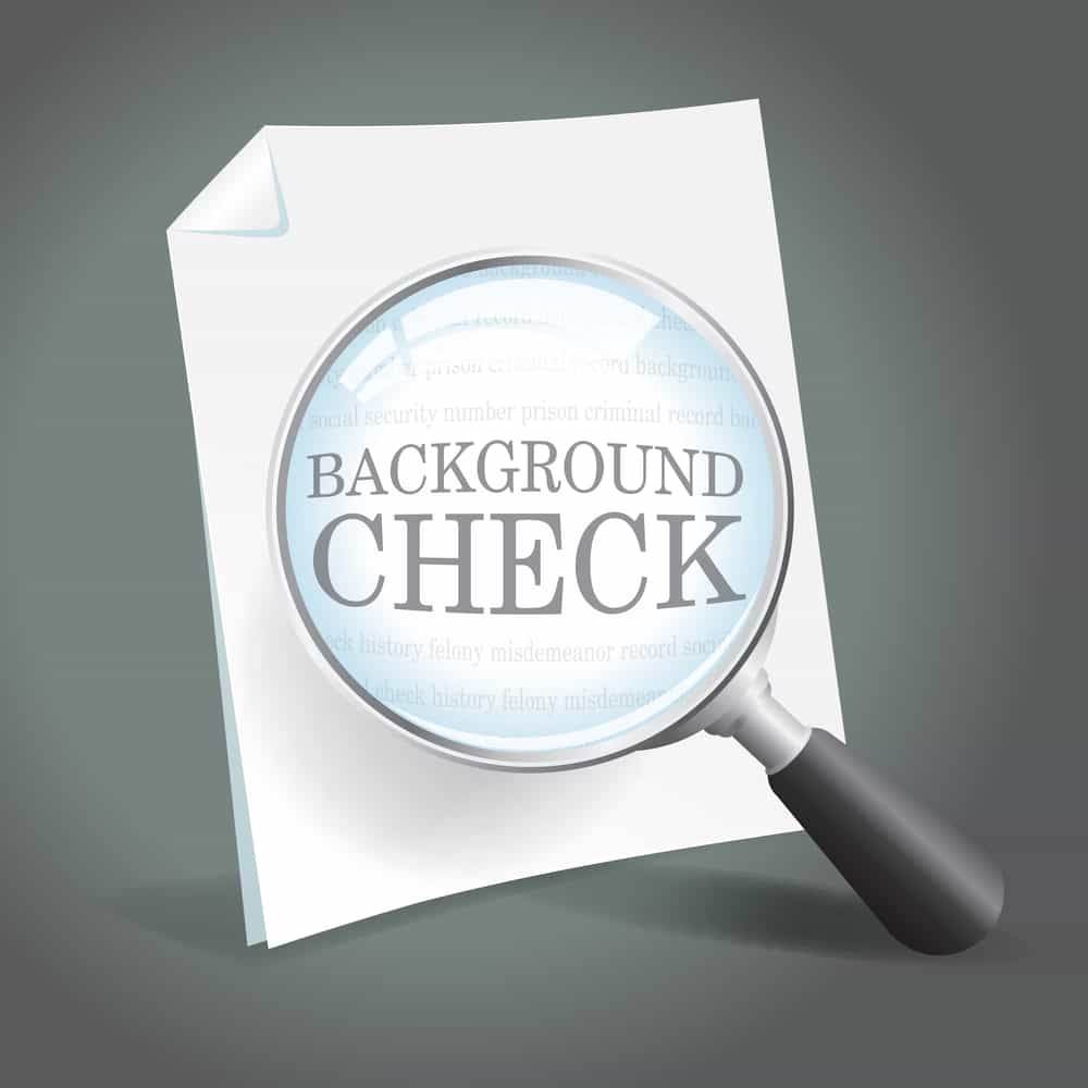 What does a background check show for employment?